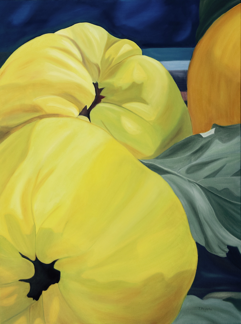 (CreativeWork) Quinces for Maggie by Yvonne Hegarty. oil-painting. Shop online at Bluethumb.