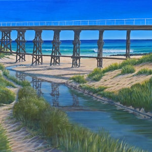 (CreativeWork) Kilcunda Bridge by David Shields. print. Shop online at Bluethumb.