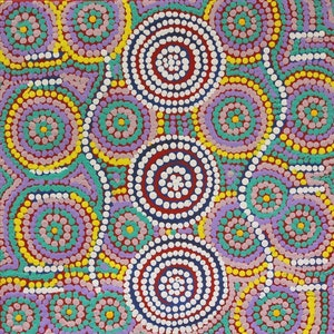 (CreativeWork) Ngapa Tjukurrpa - Water Dreaming, 16­SF329 by Susan Fry. arcylic-painting. Shop online at Bluethumb.
