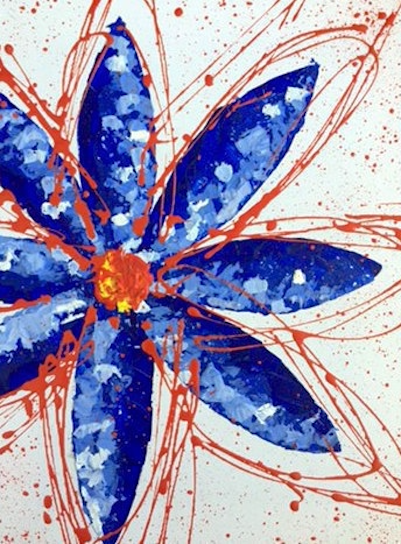 (CreativeWork) Blue and Orange  by Melak Khaleel. arcylic-painting. Shop online at Bluethumb.