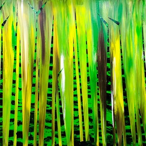 (CreativeWork) Big Bamboo 3.0 by Leith Kennedy. arcylic-painting. Shop online at Bluethumb.