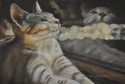(CreativeWork) Reflections by Leanne Moss. drawing. Shop online at Bluethumb.