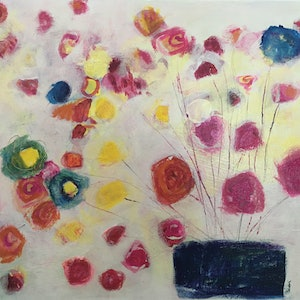 (CreativeWork) Flower pot by Sonia Dickson. mixed-media. Shop online at Bluethumb.