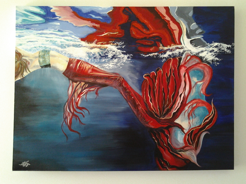 (CreativeWork) Splash by Michelle Baumann. arcylic-painting. Shop online at Bluethumb.
