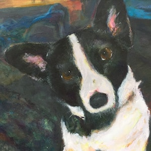 (CreativeWork) Bella  by Terry Matthews. arcylic-painting. Shop online at Bluethumb.