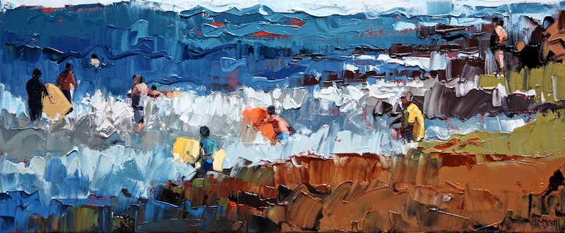 (CreativeWork) At the backbeach by Claire McCall. oil-painting. Shop online at Bluethumb.