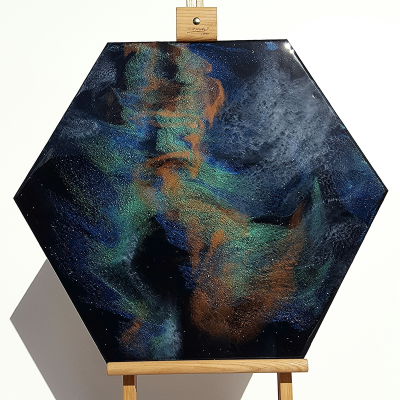 (CreativeWork) Galaxy Depths by Tamara Mcleish. resin. Shop online at Bluethumb.