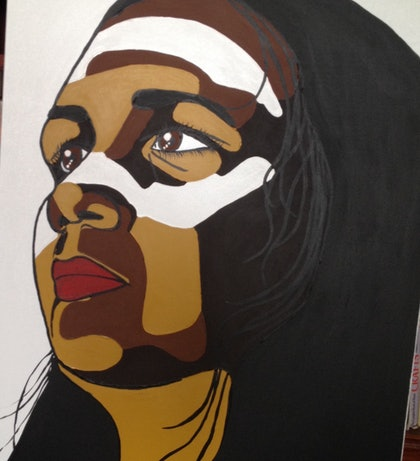 (CreativeWork) What have these eyes seen by amanda wright. arcylic-painting. Shop online at Bluethumb.