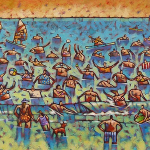 (CreativeWork) Bushy Beyond The Breakers by Malcolm Lindsay. arcylic-painting. Shop online at Bluethumb.