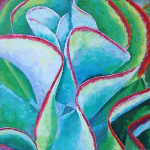 (CreativeWork) Kalanchoe by Elizabeth Whiteman. oil-painting. Shop online at Bluethumb.