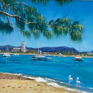 """(CreativeWork) """"SUNNY DAY AT THE SPIT"""" by Toni Lucas. arcylic-painting. Shop online at Bluethumb."""