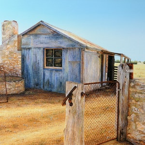 (CreativeWork) Fred's Shed - Limited Edition Archival Canvas Print 1 of 100 by Luna Vermeulen. print. Shop online at Bluethumb.