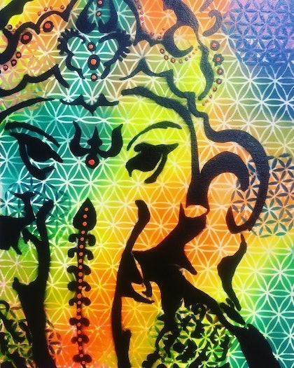 (CreativeWork) GANESHA 2.0 by Jill Psenitza. other-media. Shop online at Bluethumb.