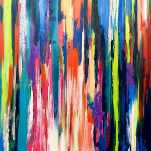 (CreativeWork) Illusion by Kylie Farrelly. arcylic-painting. Shop online at Bluethumb.
