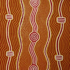 (CreativeWork) Malatju Tjukurrpa ­ Wallaby Dreaming, 09WJ074 by Walter Jugadai. #<Filter:0x00007f1f94415928>. Shop online at Bluethumb.
