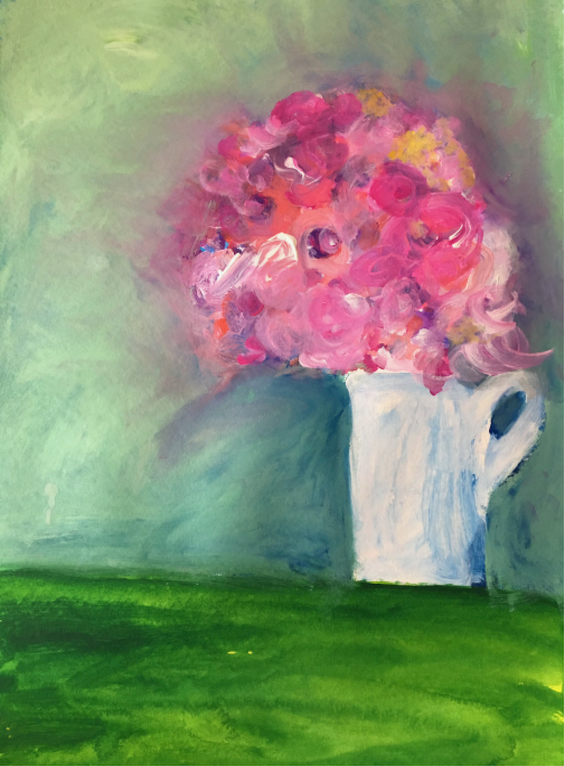 (CreativeWork) Fresh Bloom by Sonia Dickson. arcylic-painting. Shop online at Bluethumb.
