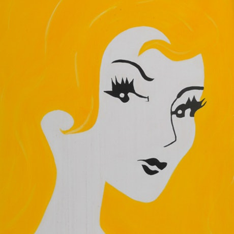 (CreativeWork) Miss Blonde by Robyn Michael. Acrylic Paint. Shop online at Bluethumb.