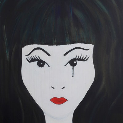 (CreativeWork) Lily by Robyn Michael. Acrylic Paint. Shop online at Bluethumb.