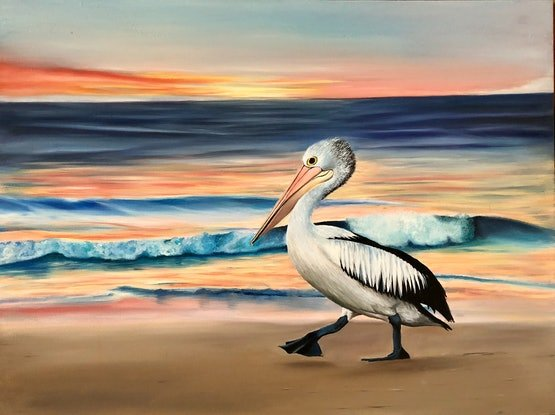 (CreativeWork) Pelly Strut by Leonie McIntosh. Oil Paint. Shop online at Bluethumb.