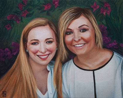(CreativeWork) Commissioned portrait by Kirsten Sivyer. oil-painting. Shop online at Bluethumb.