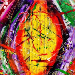 (CreativeWork) Str8 2.0 by Leith Kennedy. mixed-media. Shop online at Bluethumb.