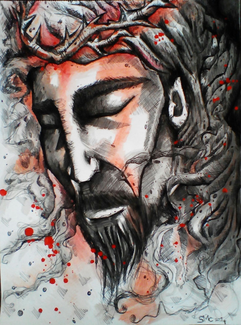 (CreativeWork) The bleeding crown by Sarah Crane. drawing. Shop online at Bluethumb.