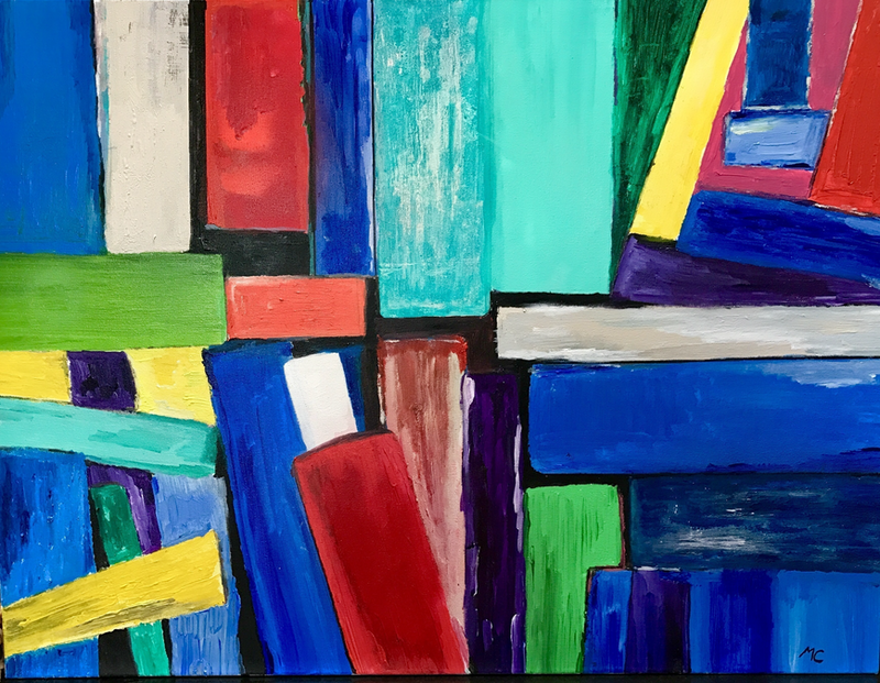 (CreativeWork) Cuisinaire by Michael Cougan. mixed-media. Shop online at Bluethumb.