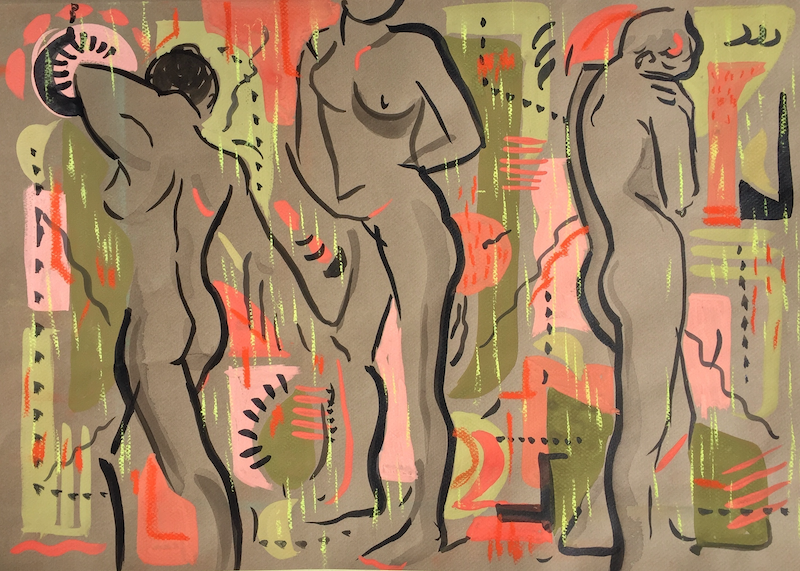(CreativeWork) Odalisques (I) by Helen Connolly. #<Filter:0x00007f1f769cb700>. Shop online at Bluethumb.