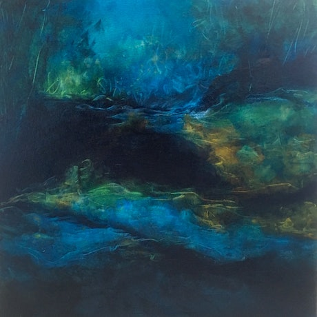 (CreativeWork) Winters Glimpse #2 by Vania Lawson. Oil Paint. Shop online at Bluethumb.
