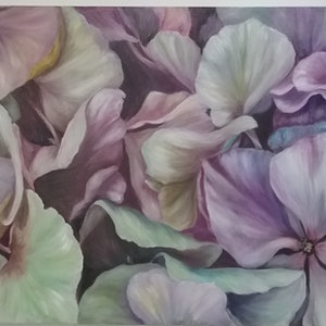 (CreativeWork) Petal's by Kathryn deBoer Ipsen. acrylic-painting. Shop online at Bluethumb.