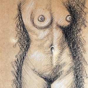 (CreativeWork) Figure Study No 1 by Luna Vermeulen. drawing. Shop online at Bluethumb.