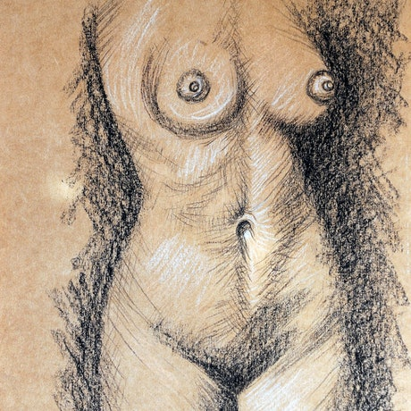 (CreativeWork) Figure Study No 1 by Luna Vermeulen. Drawings. Shop online at Bluethumb.