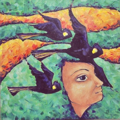 (CreativeWork) Flight by Two Black Dogs. #<Filter:0x00007fa57c6a10e8>. Shop online at Bluethumb.