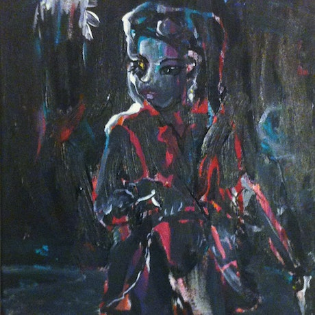 (CreativeWork) Night Vision by Louise Campbell-Smith. Oil Paint. Shop online at Bluethumb.