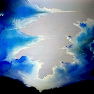(CreativeWork) Sky Blues - Limited Edition Print 1/5 by Matthew Earl. print. Shop online at Bluethumb.