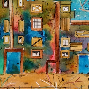 (CreativeWork) Where Did  They Go by Meredith Dixon. mixed-media. Shop online at Bluethumb.