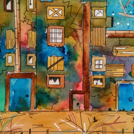 (CreativeWork) Where Did  They Go by Meredith Dixon. Watercolour Paint. Shop online at Bluethumb.