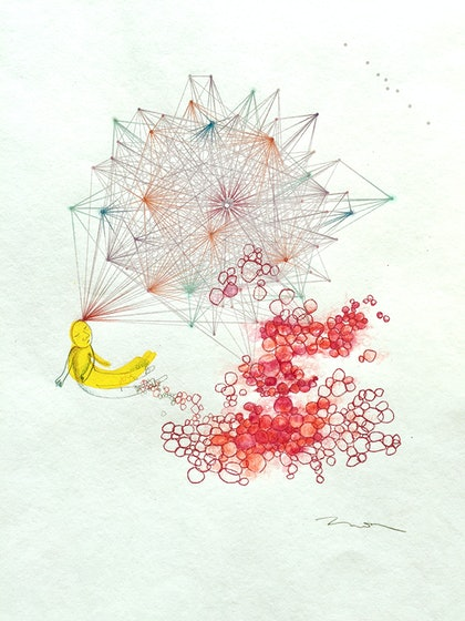 (CreativeWork) Between Thought and Matter by Mona Choo. mixed-media. Shop online at Bluethumb.