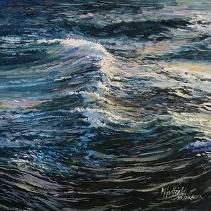 (CreativeWork) LIGHT ON THE WASH by Margaret HADFIELD. oil-painting. Shop online at Bluethumb.