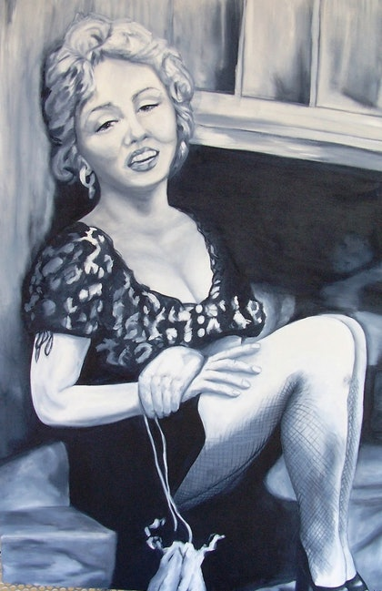 (CreativeWork) MARILYN 2 by jen searle. oil-painting. Shop online at Bluethumb.