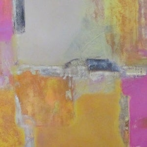 (CreativeWork) The Yellow Fields by Jack Isbister. arcylic-painting. Shop online at Bluethumb.