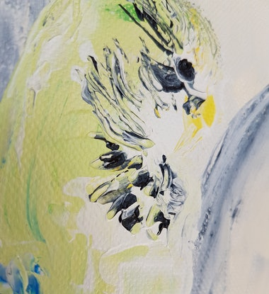 (CreativeWork) Bird In The Bed And The Little One Said by Sam Patterson-Smith. Acrylic Paint. Shop online at Bluethumb.