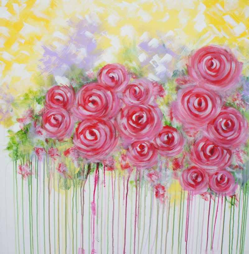 (CreativeWork) Crimson by Joanne Bennett. arcylic-painting. Shop online at Bluethumb.