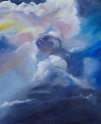 (CreativeWork) Storm by Tom Parsons. Oil Paint. Shop online at Bluethumb.
