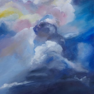 (CreativeWork) Storm by Tom Parsons. oil-painting. Shop online at Bluethumb.