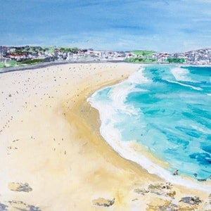 (CreativeWork) Perspective on Bondi  by Gillian Fahey. arcylic-painting. Shop online at Bluethumb.