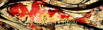 (CreativeWork) Koi No. 1 by Sumei chew. mixed-media. Shop online at Bluethumb.