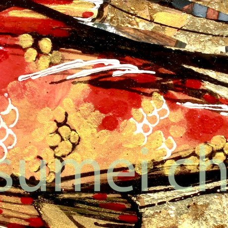 (CreativeWork) Koi No. 1 by Sumei chew. Mixed Media. Shop online at Bluethumb.