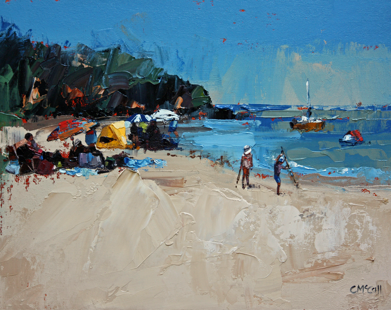 (CreativeWork) Summer's Day by Claire McCall. oil-painting. Shop online at Bluethumb.