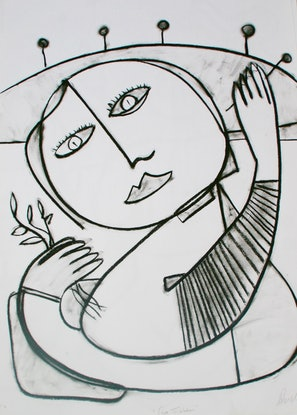 (CreativeWork) A LOVE LIKE NO OTHER by DEREK ERSKINE. Drawings. Shop online at Bluethumb.